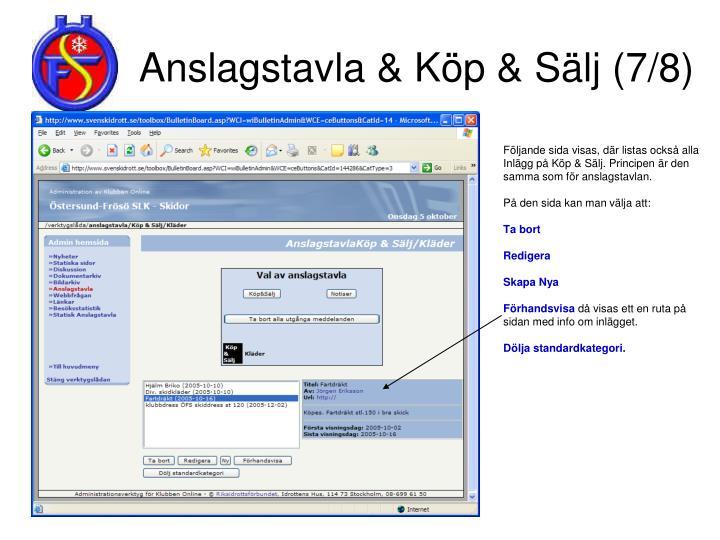 Anslagstavla & Köp & Sälj (7/8)
