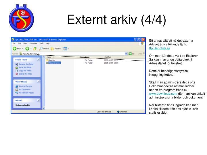 Externt arkiv (4/4)