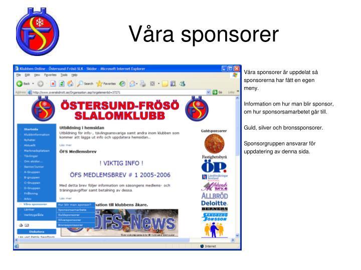 Våra sponsorer