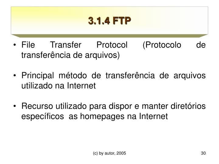 3.1.4 FTP