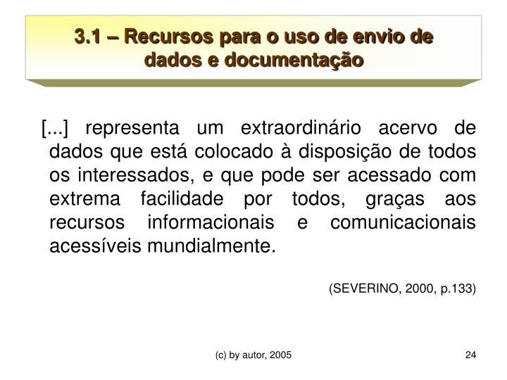 3.1 – Recursos para o uso de envio de