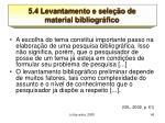 5 4 levantamento e sele o de material bibliogr fico