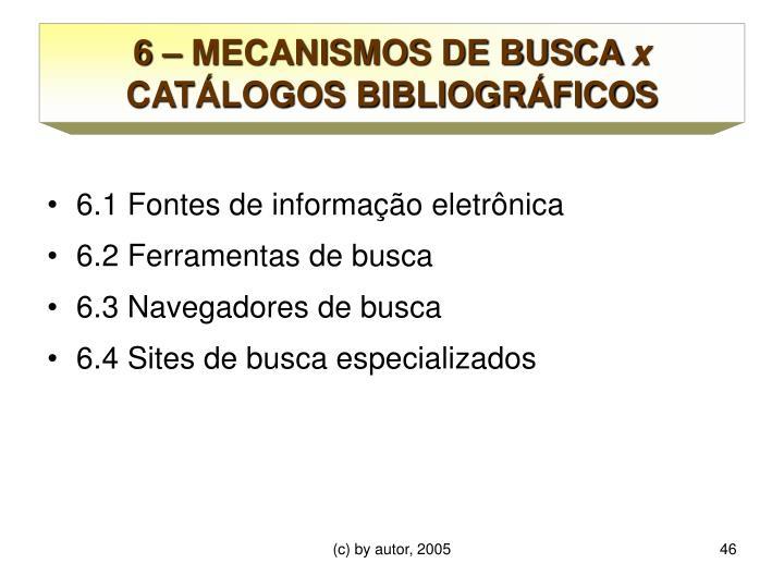 6 – MECANISMOS DE BUSCA