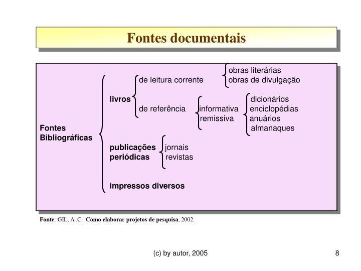 Fontes documentais