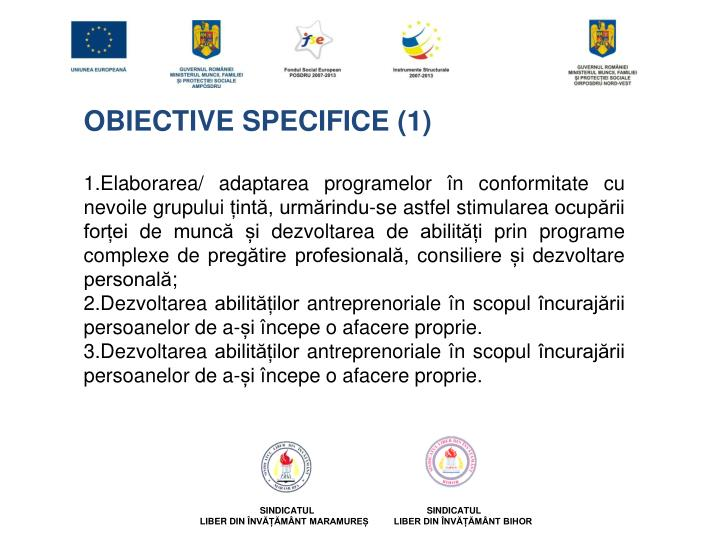OBIECTIVE SPECIFICE (1)