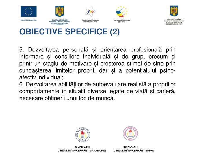 OBIECTIVE SPECIFICE (2)