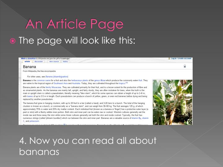 An Article Page