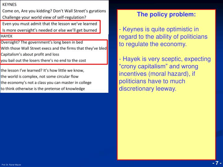 The policy problem: