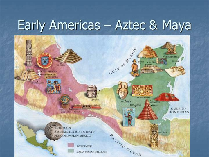 Early americas aztec maya