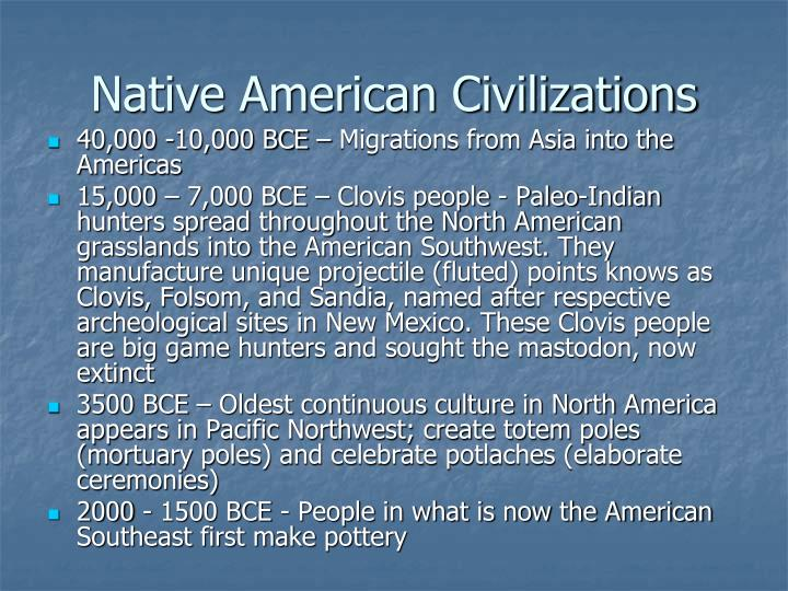 Native American Civilizations