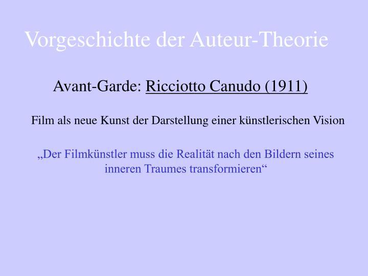 Vorgeschichte der Auteur-Theorie