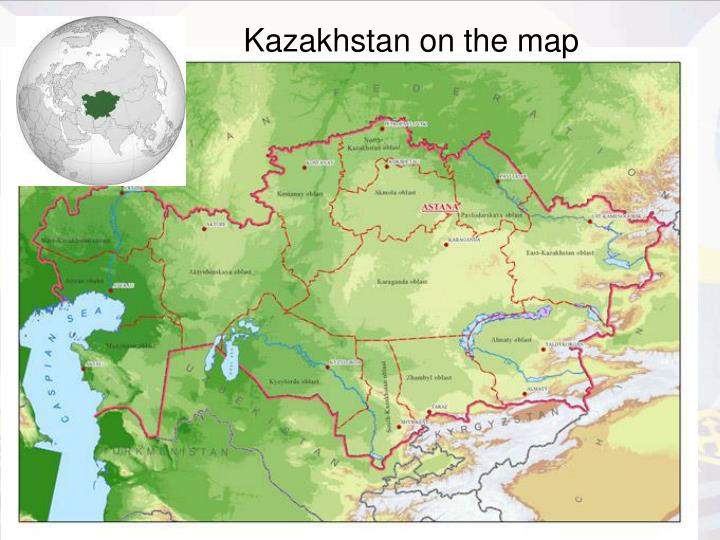 Kazakhstan on the map