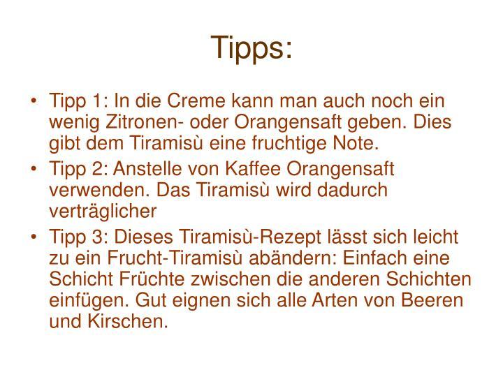 Tipps: