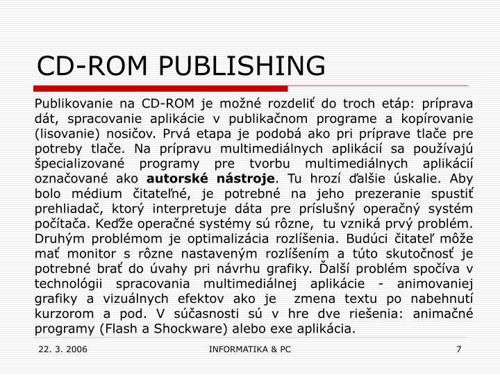CD-ROM PUBLISHING