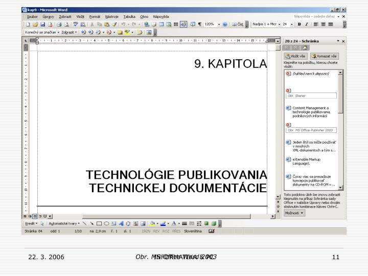 Obr. MS Office Word 2003