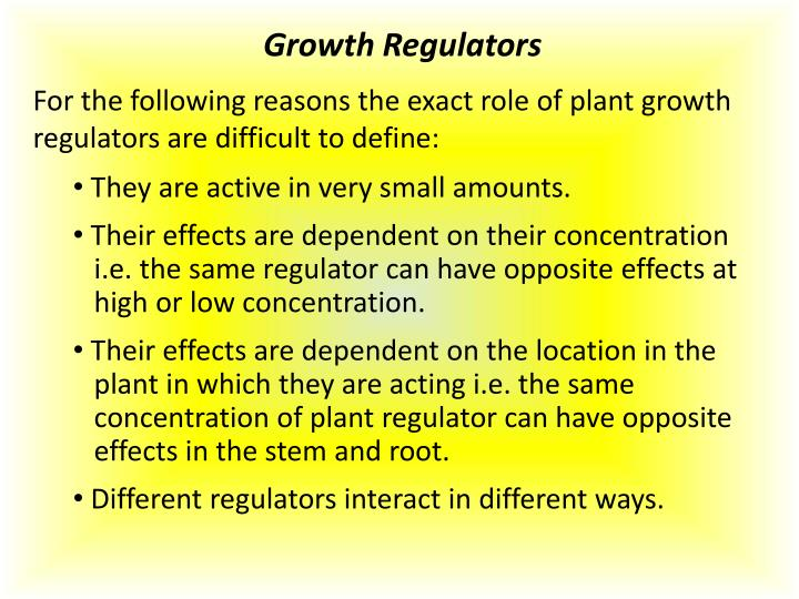 Growth Regulators