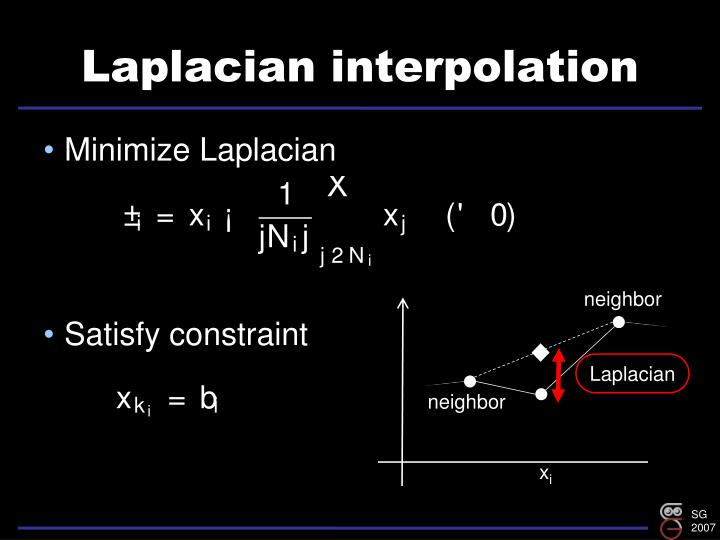 Laplacian interpolation