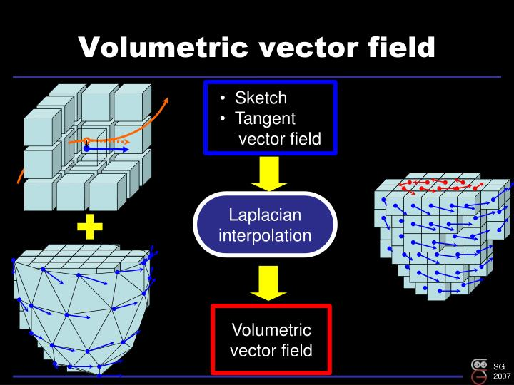 Volumetric vector field