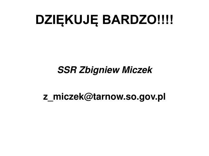 DZIĘKUJĘ BARDZO!!!!