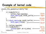 example of kernel code
