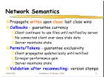 network semantics