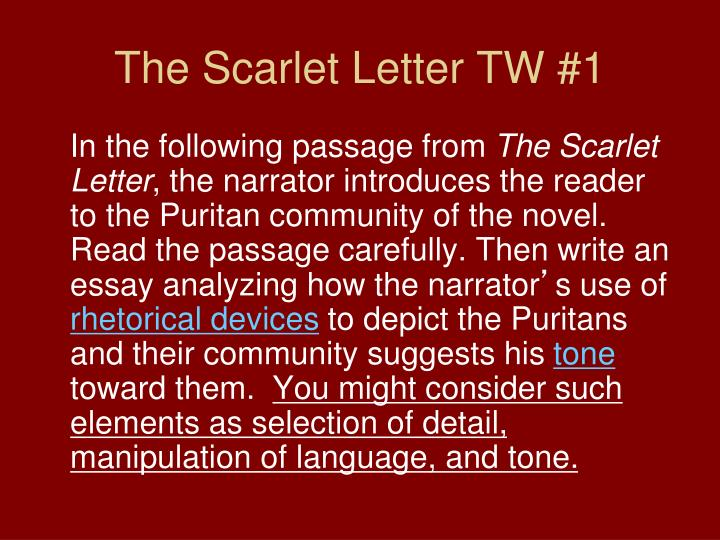 The Scarlet Letter TW #1