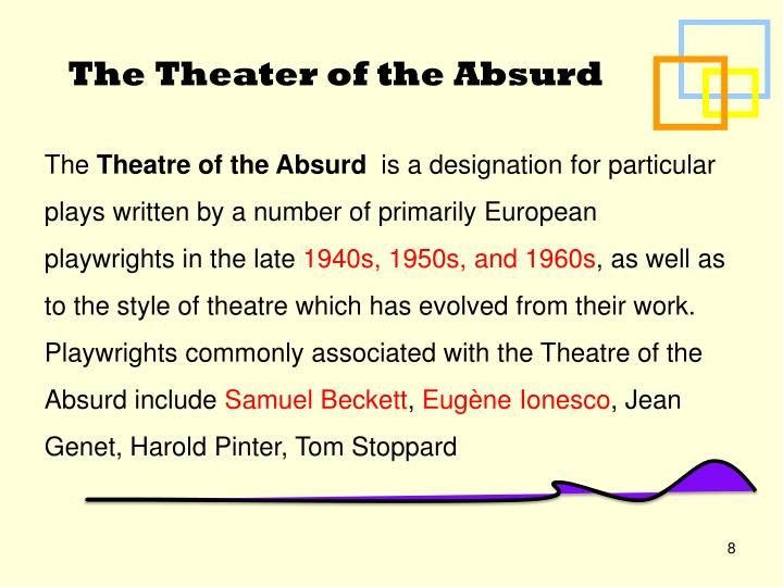 relationship between theater of the absurd and existentialism