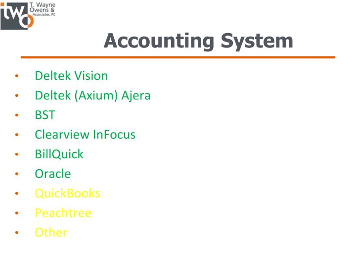 Accounting System