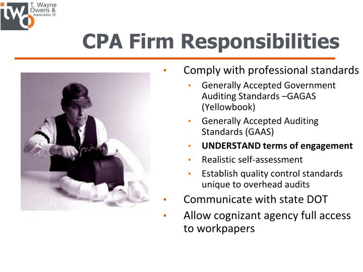 CPA Firm Responsibilities