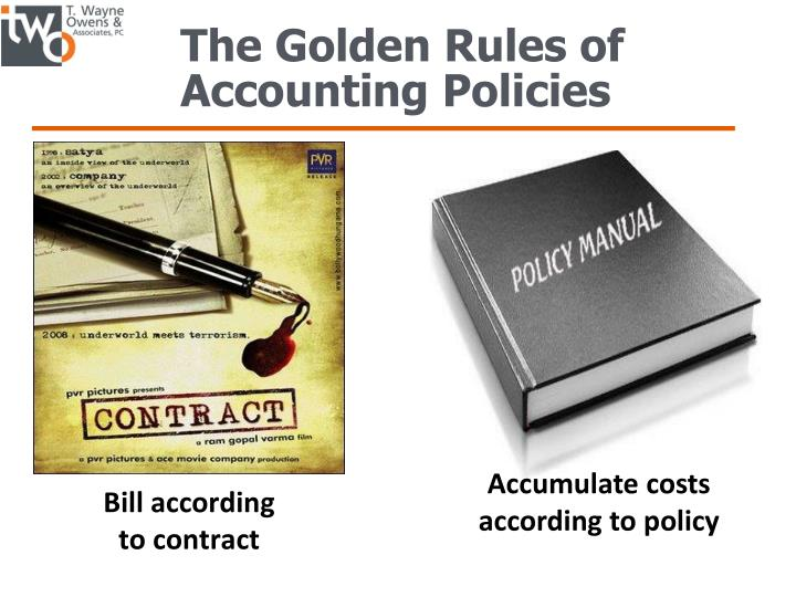The Golden Rules of Accounting Policies