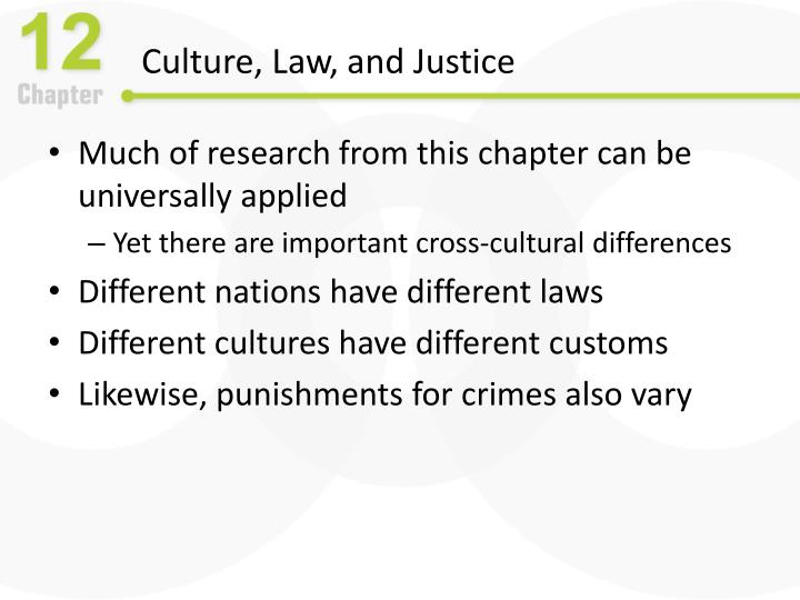 Culture, Law, and Justice