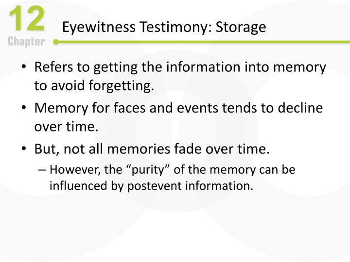 Eyewitness Testimony: Storage