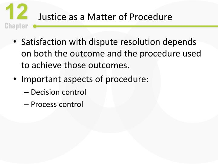 Justice as a Matter of Procedure