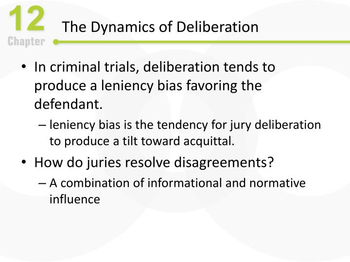 The Dynamics of Deliberation