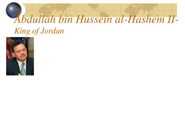 Abdullah bin Hussein al-Hashem II-