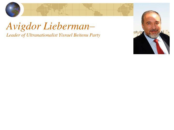 Avigdor Lieberman–