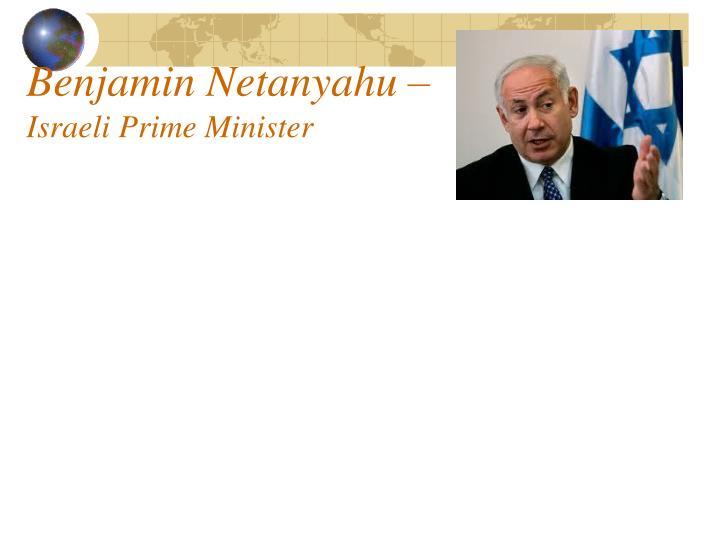 Benjamin Netanyahu –