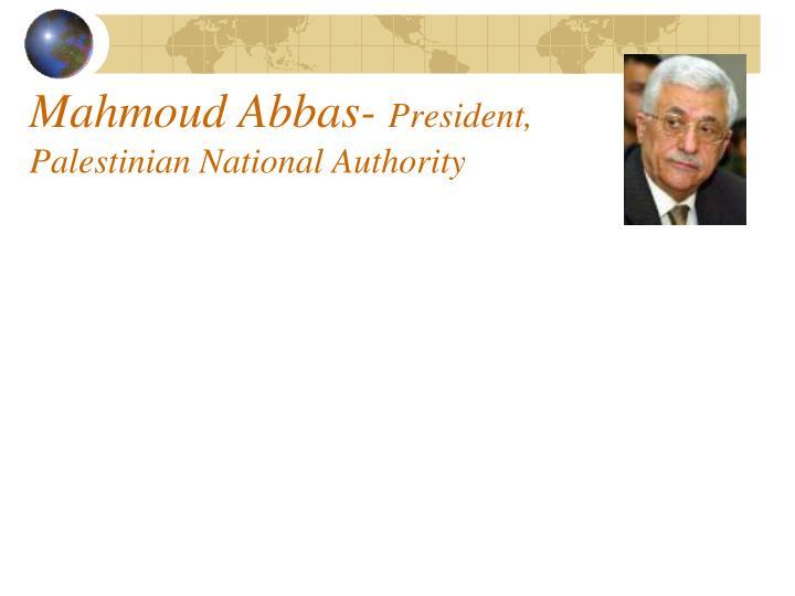 Mahmoud Abbas-