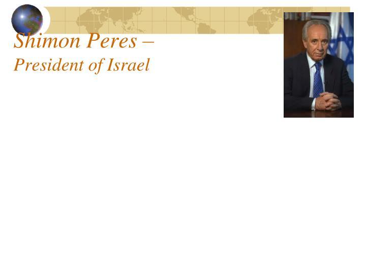 Shimon Peres –