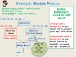 example module privacy