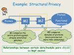 example structural privacy
