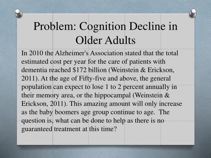 Problem cognition decline in older adults