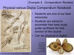 physical versus digital compendium notebook