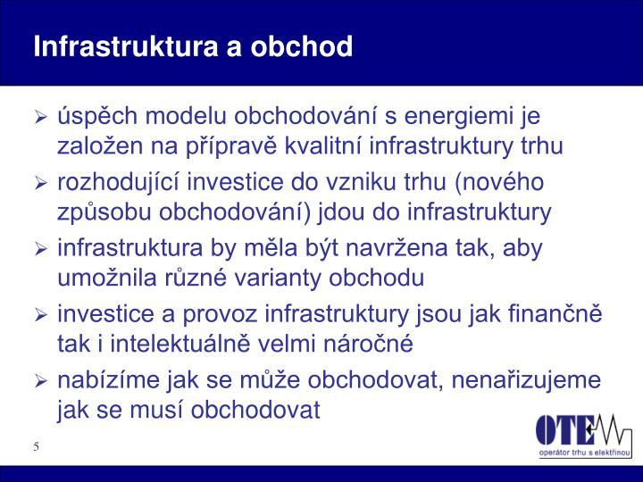 Infrastruktura a obchod