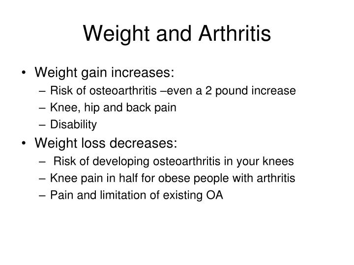 Weight and Arthritis
