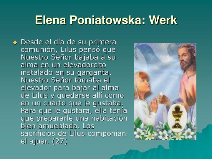 Elena Poniatowska: