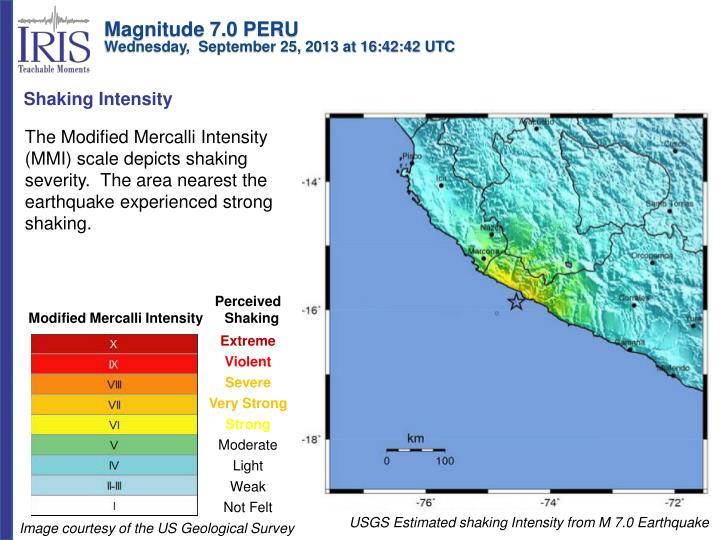 Magnitude 7.0 PERU