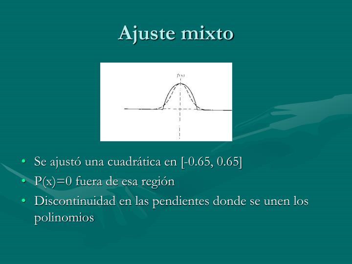 Ajuste mixto