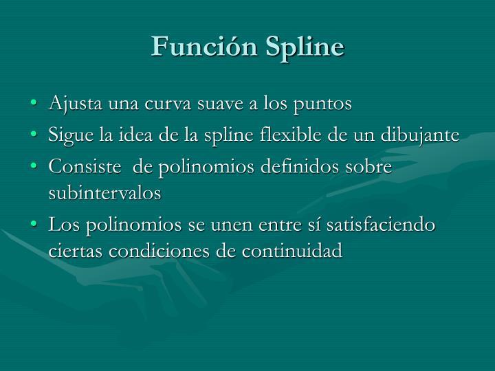 Función Spline
