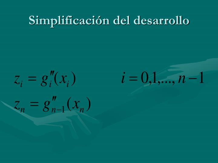 Simplificación del desarrollo
